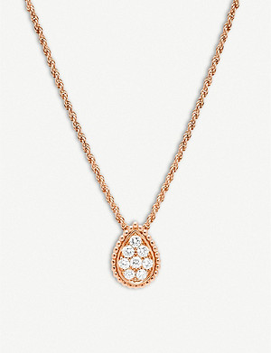 BOUCHERON Serpent Boh?me 18ct pink-gold and diamond necklace