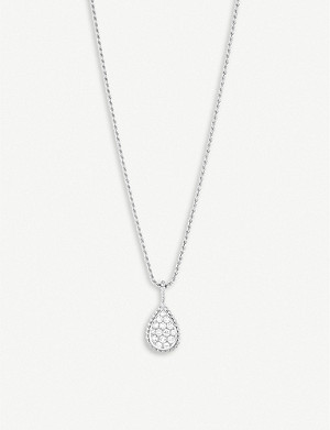 BOUCHERON Serpent Bohème pavé diamond and 18ct white-gold long necklace