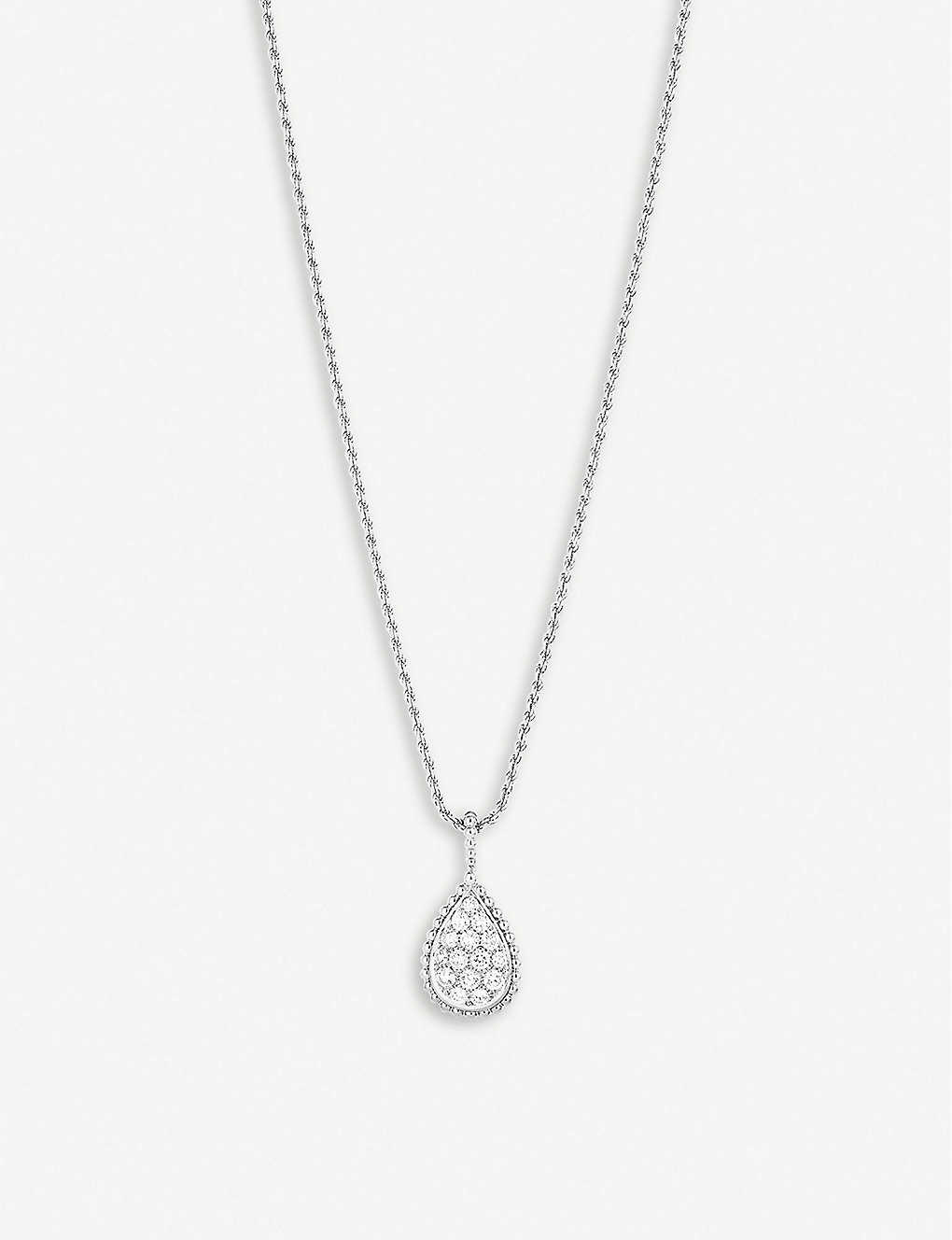 BOUCHERON: Serpent Bohème 18ct white-gold and 1.34ct diamond necklace