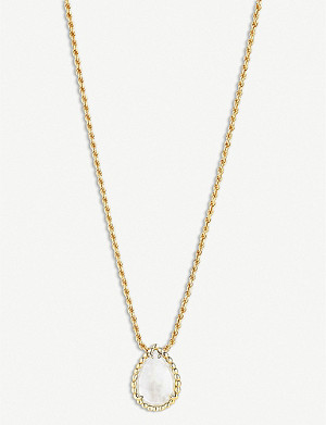 BOUCHERON Serpent Boh?me yellow-gold and mother-of-pearl necklace