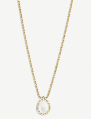 BOUCHERON Serpent Bohème yellow-gold and mother-of-pearl necklace
