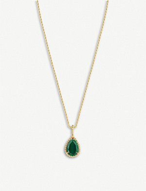 BOUCHERON Serpent Boheme malachite and 18ct yellow-gold pendant