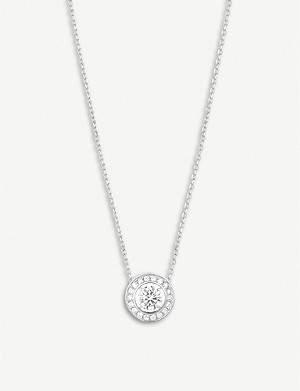 BOUCHERON Ava Rond diamond and white-gold necklace