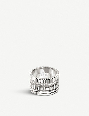 BOUCHERON Quatre Radiant Edition 18ct white-gold and diamond ring