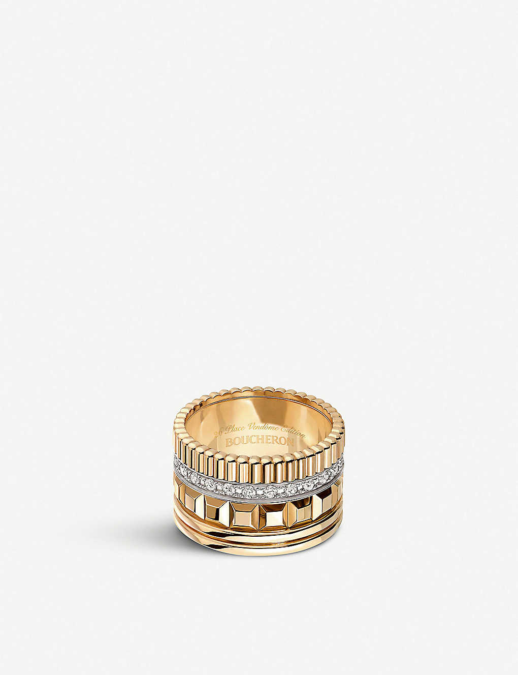 7449e03317d89 Quatre Radiant Edition 18ct yellow-gold and diamond ring