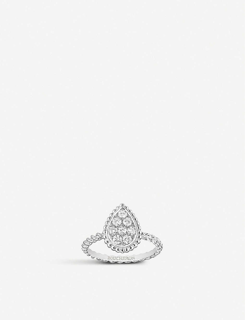 13067e4c5fc2d BOUCHERON - Serpent Bohème 18ct white-gold and diamond ring ...