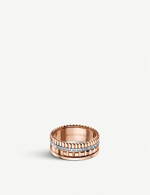 BOUCHERON Quatre Radiant Edition pink-gold and diamond ring