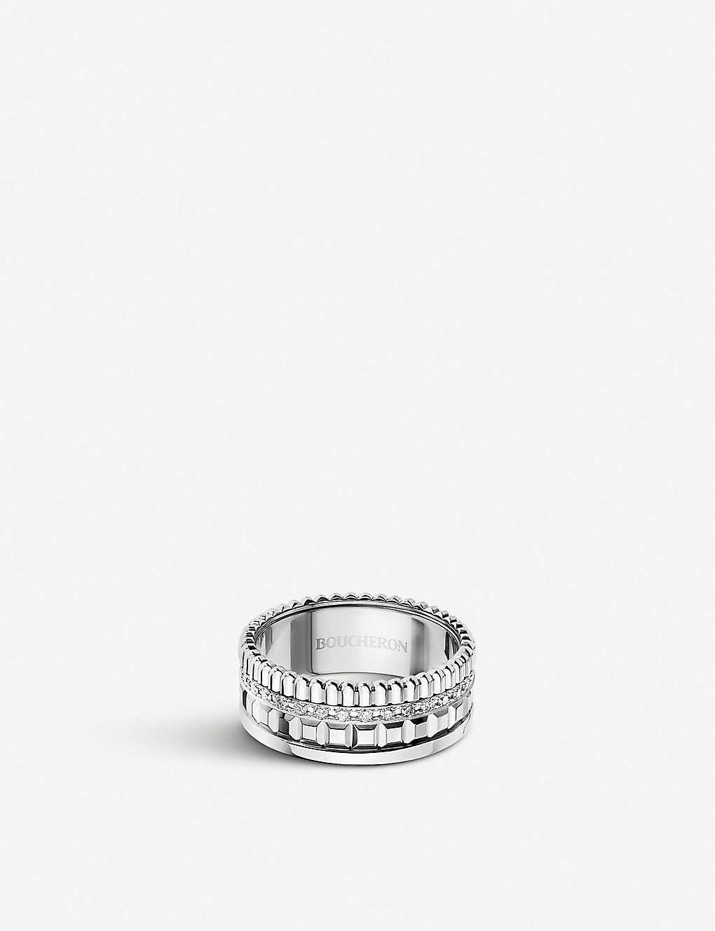 7dd02da71d403 Quatre Radiant Edition white-gold and diamond ring