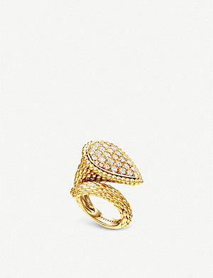 BOUCHERON Serpent Boh?me 18ct yellow-gold and diamond ring