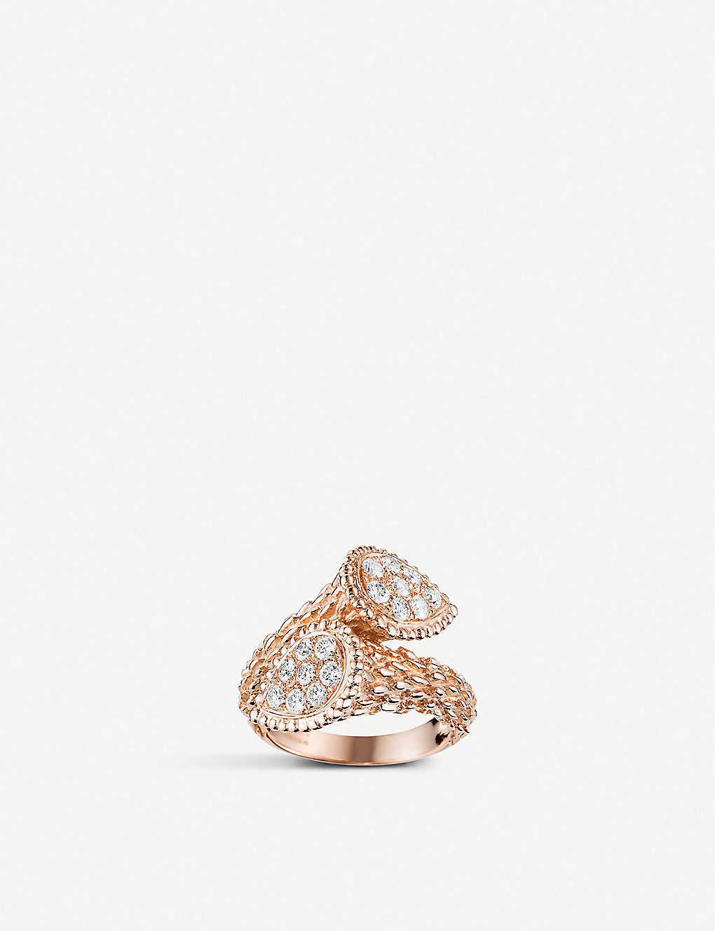 050694c2eea0b3 BOUCHERON - Serpent Bohème Toi et Moi 18ct rose gold and diamond ...
