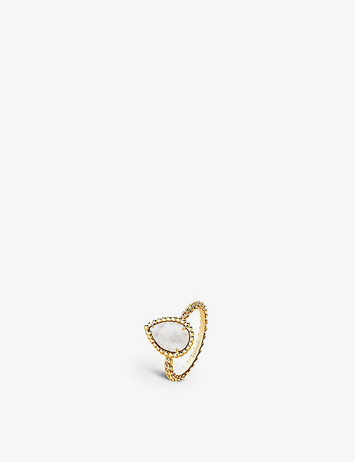 BOUCHERON: Serpent Bohème yellow-gold and mother-of-pearl ring