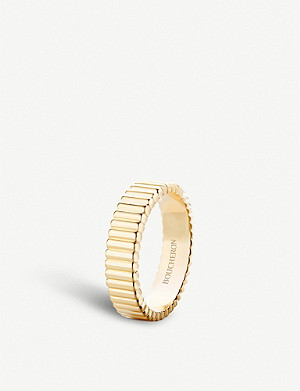 BOUCHERON Quatre Grosgrain 18ct yellow gold ring