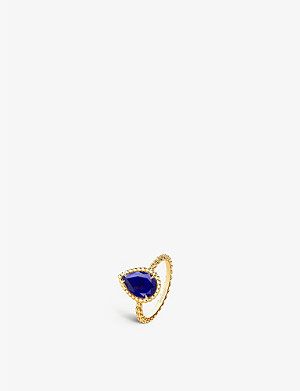 BOUCHERON Serpent Boh?me 18ct yellow gold and lapis lazuli ring