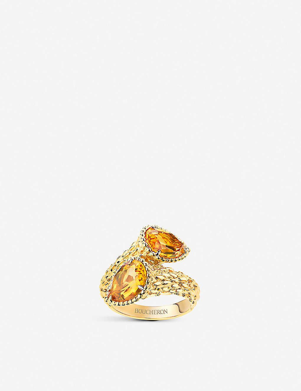 4b27e881239b0d BOUCHERON - Serpent Bohème Toi et Moi 18ct yellow gold and citrine ...