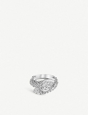 BOUCHERON Serpent Boh?me 18ct white-gold and diamond ring