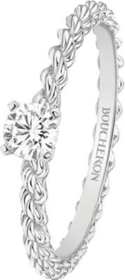 chaussures de séparation 32f7e f0883 BOUCHERON Serpent Bohème 18ct white-gold and solitaire diamond ring