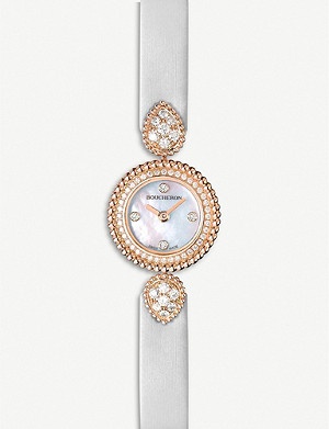 BOUCHERON Serpent Boheme 18ct rose-gold, diamond and mother-of-pearl watch