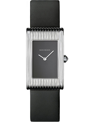 BOUCHERON Reflet medium stainless steel and sapphire cabochon watch