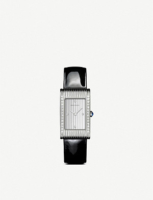 BOUCHERON Reflet medium stainless steel, diamond and sapphire cabochon watch