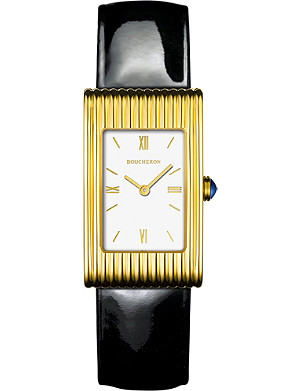 BOUCHERON Reflet medium 18ct yellow-gold sapphire cobochon watch