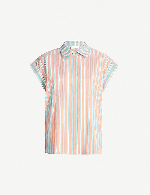 eedfc135f8 SANDRO Striped short-sleeved woven top