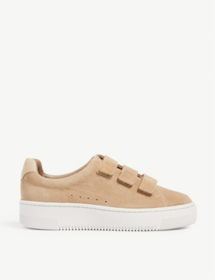 SANDRO Suede strap trainers