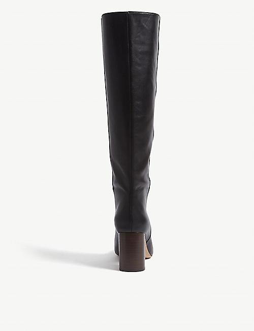 6c5387b19b5 SANDRO Soan heeled knee-high leather boots