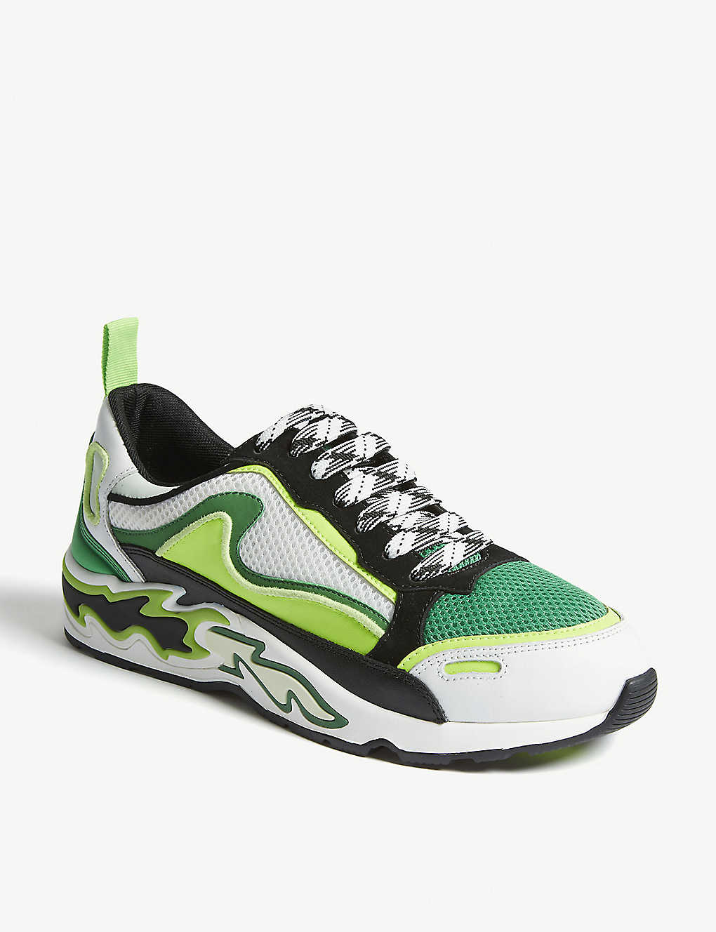 b2f77c4bb5 ... Flame trainers - Vert fluo ...