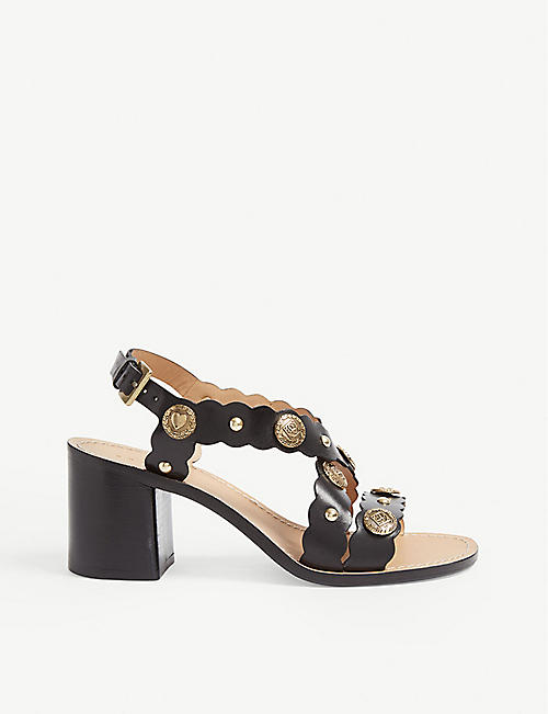 32123e5ffe5 SANDRO Buckled leather heeled sandals