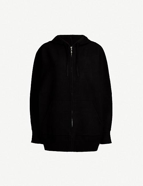 79c432b69593 SANDRO Love-embroidered cotton hoody