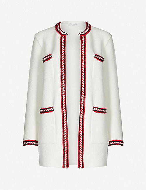 SANDRO Luce chunky cotton-blend cardigan