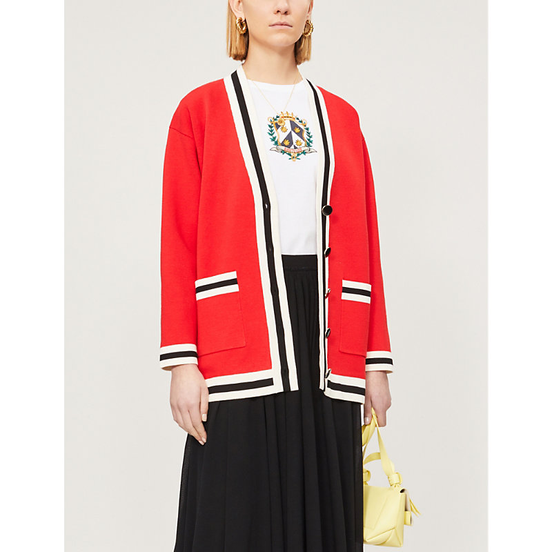 Sandro Knits STRIPED KNITTED CARDIGAN