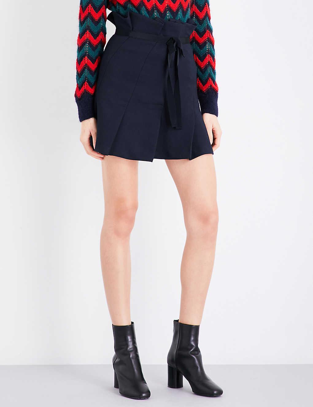 a30b30bfe SANDRO - Pleated twill skirt | Selfridges.com