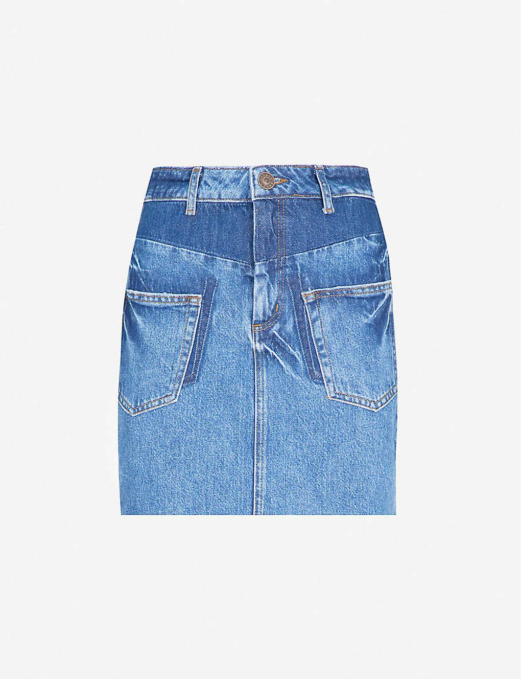28920dda4c SANDRO - Frayed-hem denim skirt | Selfridges.com