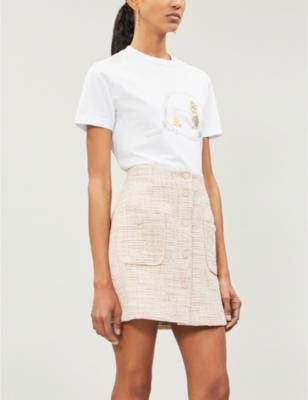 b68f8651f01a27 SANDRO - Agatha high-rise tweed skirt | Selfridges.com