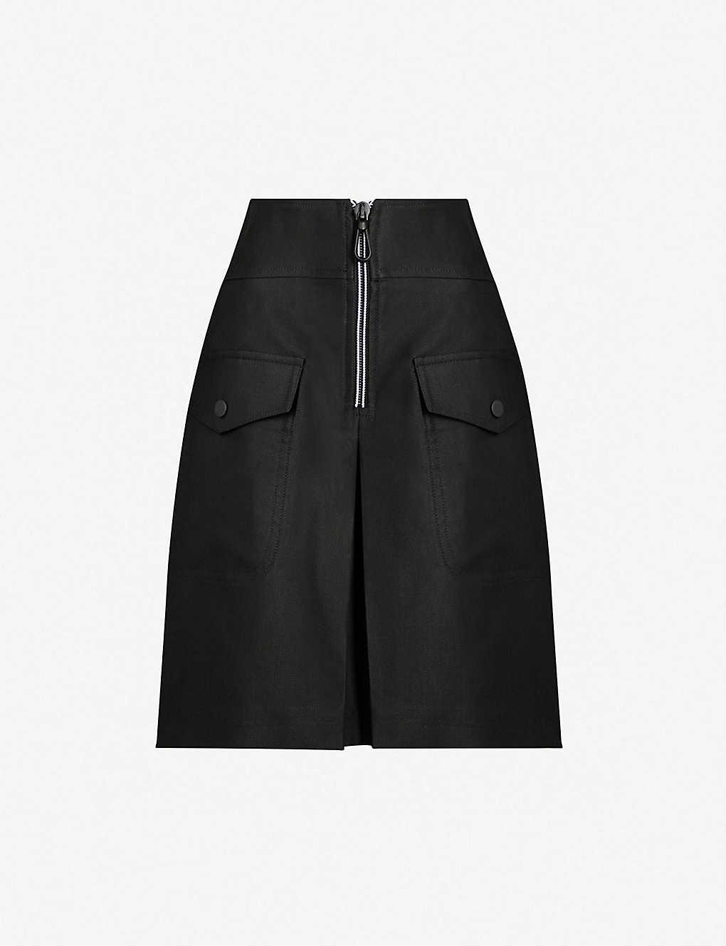 9aea0ce50 SANDRO - A-line front pleat twill skirt   Selfridges.com