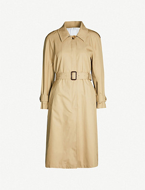 SANDRO Victorine belted cotton coat