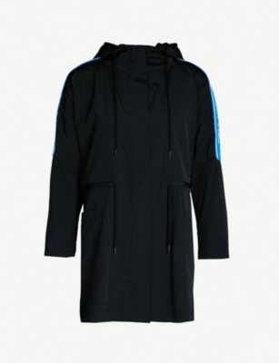 SANDRO Mario shoulder stripe detail shell coat