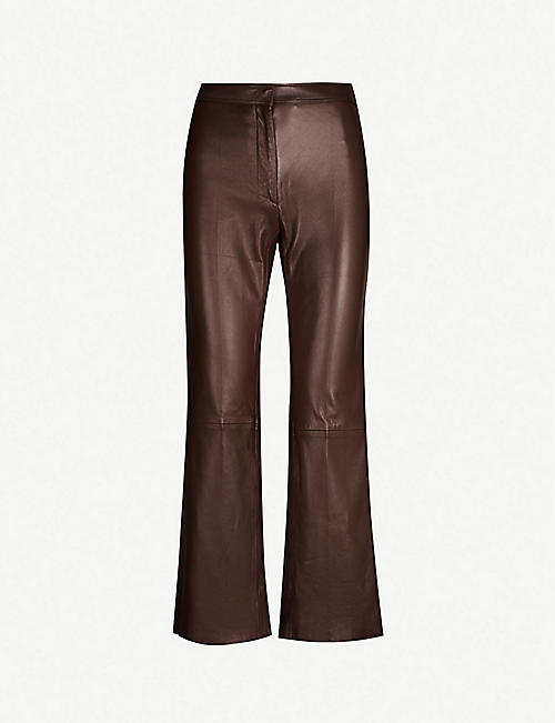 66d473995f SANDRO Cropped leather trousers