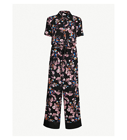 0574047dd7 SANDRO - Floral print crepe jumpsuit