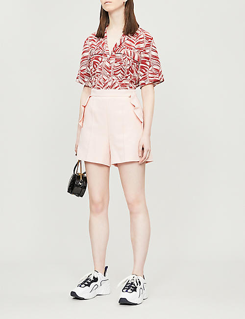 SANDRO Jendal flared-side woven shorts