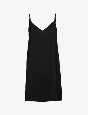 SANDRO Spaghetti-straps crepe dress