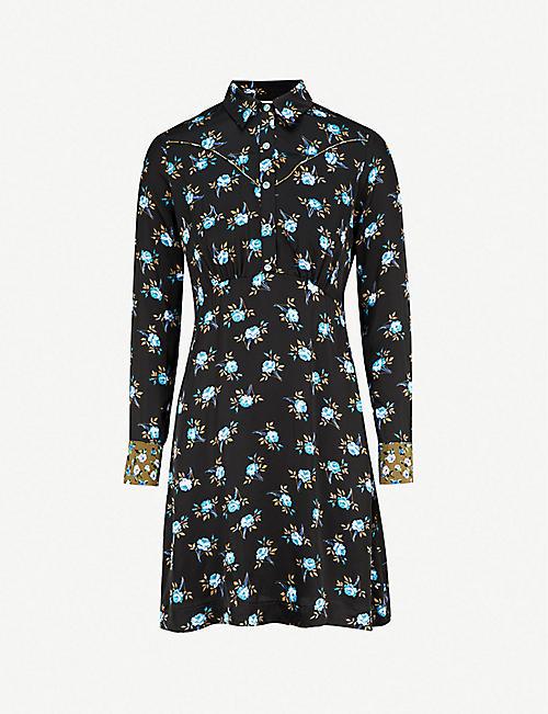 a2174f2155f1f6 SANDRO Floral-print satin dress