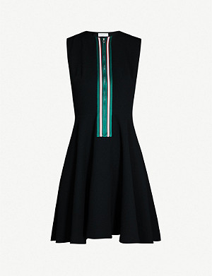 SANDRO Ines embellished zip dress