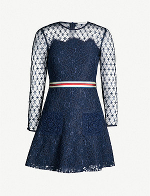 SANDRO Alicia floral lace dress