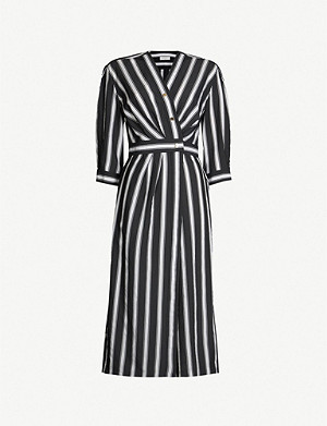 SANDRO Striped woven dress