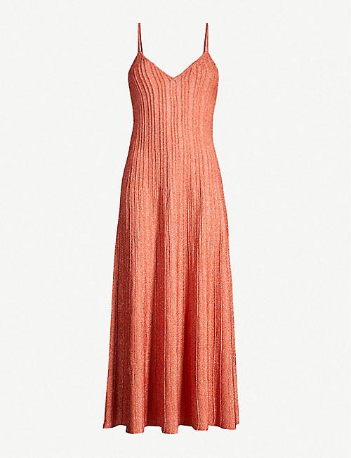 094d6d80969 SANDRO Metallic stretch-knit maxi dress