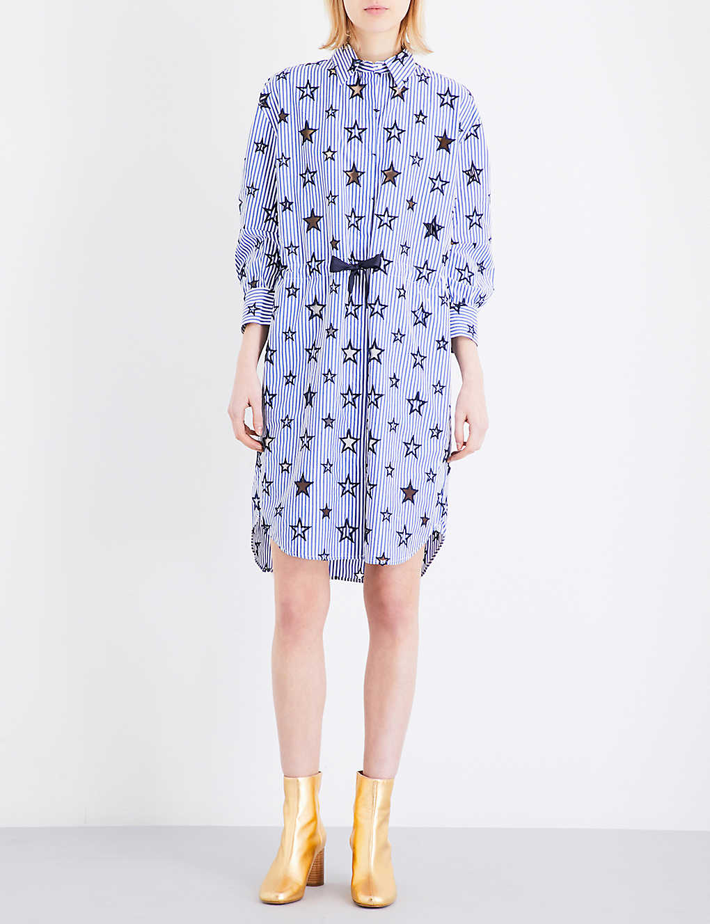 1db28ca89ad SANDRO - Bilbao cotton-blend shirt dress