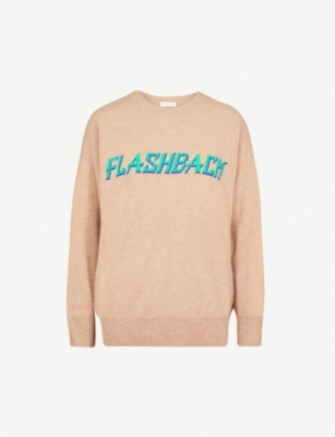 SANDRO Flashback wool and cashmere-blend jumper