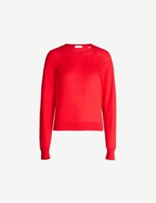 SANDRO Crewneck stretch-knit jumper